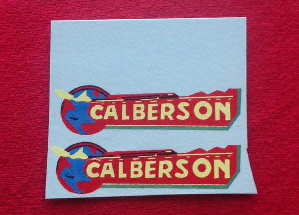 "FRENCH DINKY TOYS 25J SERIES ""CALBERSON"" WATERSLIDE TRANSFER SET. TRANSFERS / DECALS"